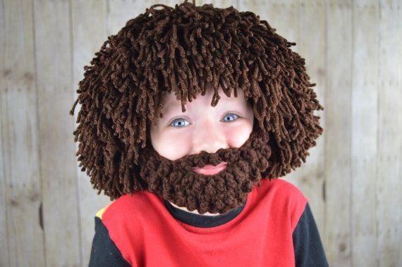 Wig Beard Hat Halloween Costume Hobo Mad by YumbabY  halloween  costume   baby  costumesforboys  smile  funny  handmade e3fb00cb9ee5