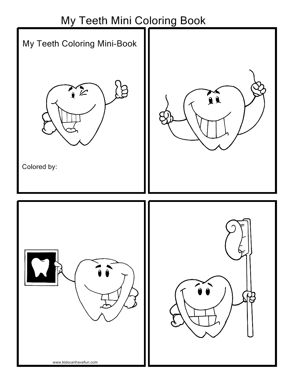 My Teeth Coloring Book About Me Activities Preschool Projects Preschool Books