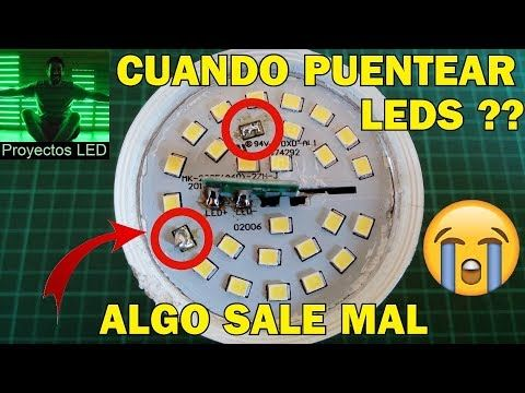 Como Reparar Lampara Led How To Fix Led Lamp Youtube Led Focos Electricidad Y Electronica