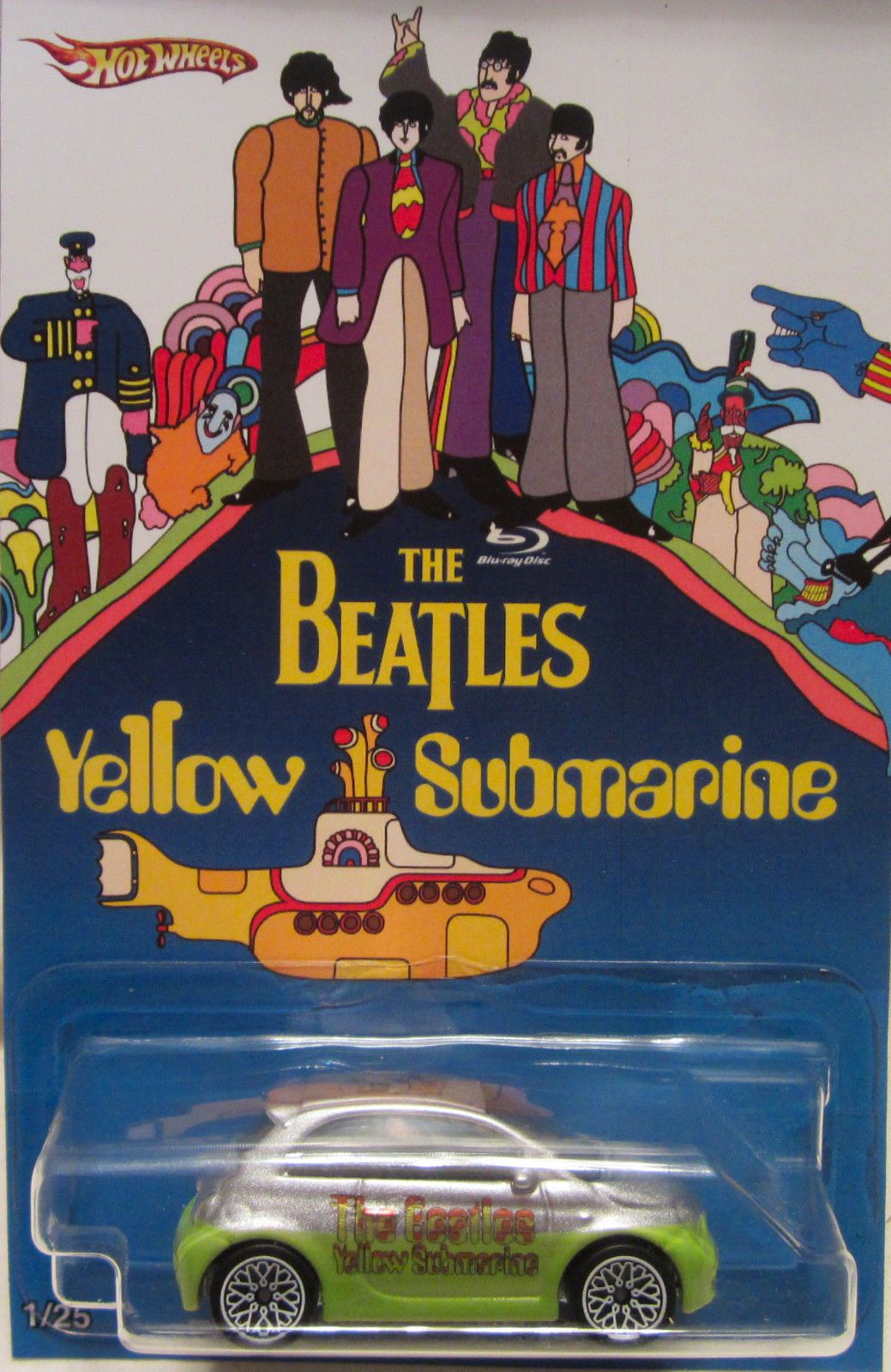 Hot Wheels Custom Fiat 500 The Beatles Yellow Submarine Rr Ltd 1 25 Yellow Submarine Yellow Submarine Movie Sub Film
