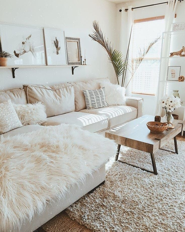 White X Brown Living Room #examplesofgoals