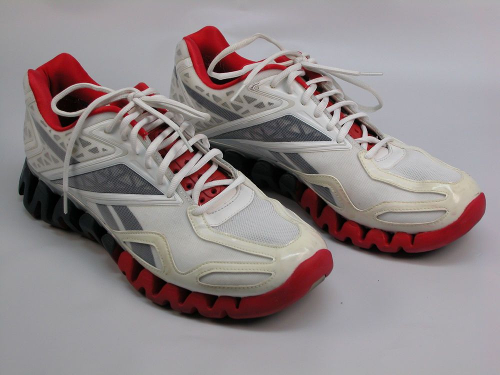 2572a963da23 REEBOK ZIGTECH STABLE FIT MEN S SIZE 12 RUNNING SHOE WHITE GRAY RED (NO  INSOLES)  Reebok  RunningCrossTraining
