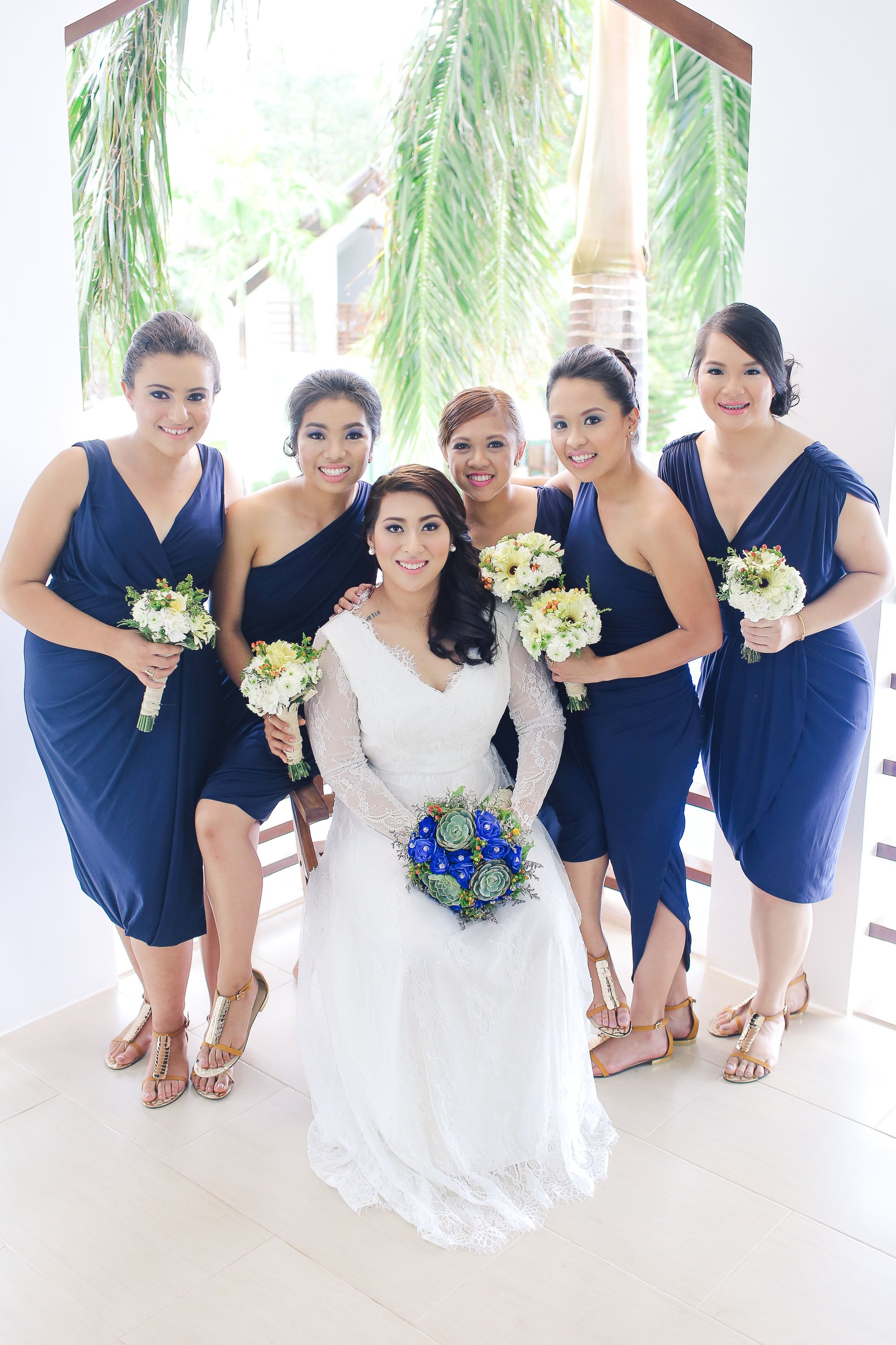 Bridesmaid dress for beach wedding  navy bridesmaid dress Pia Gladys Perey Acuatico beach wedding