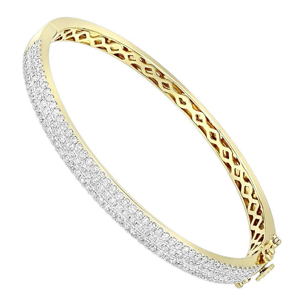 K gold designer carat diamond bangle bracelet for women by