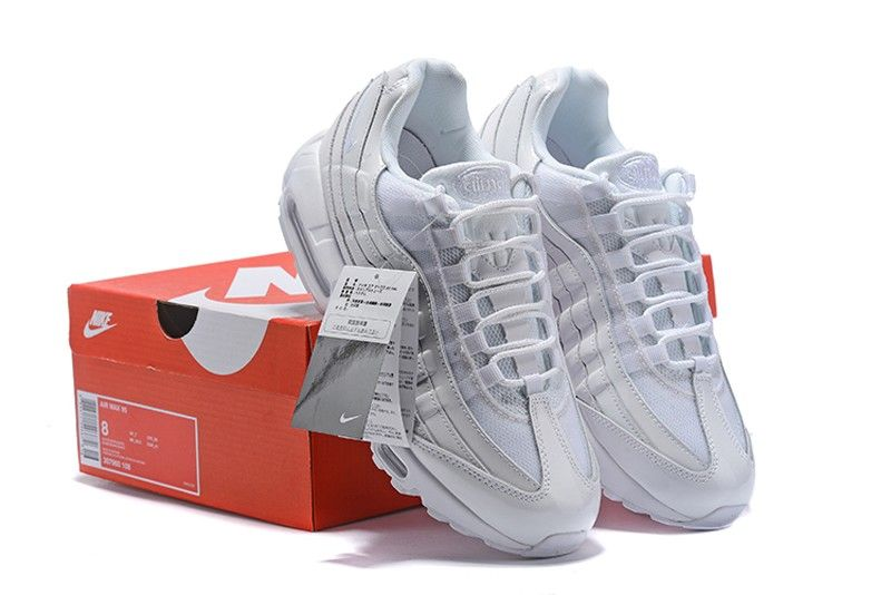 9af9f31d759 Most Popular Nike Air Max 95 Pure White 307960-108 Men s-Women s Retro  Running