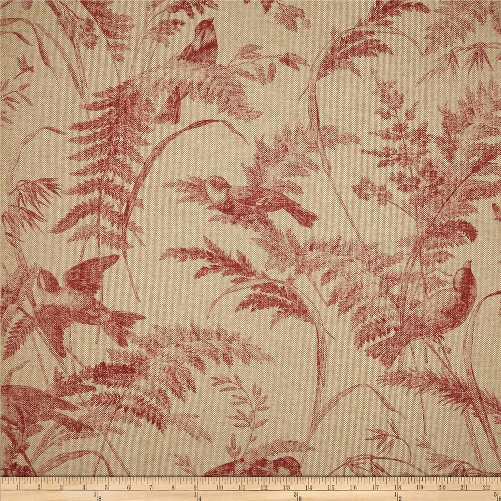 Lacefield Bird Toile Red Item Number 0277691 Our Price
