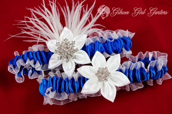 Winter Wedding Garter Set Royal Blue Garter @Matt Valk Chuah Dressing Rooms Halesowen