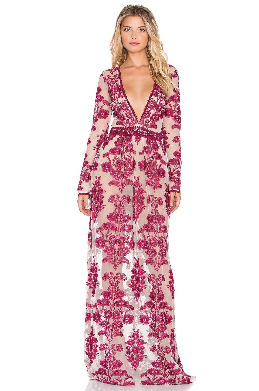 For Love & Lemons Temecula Maxi Dress in Wine | REVOLVE | Dream ...