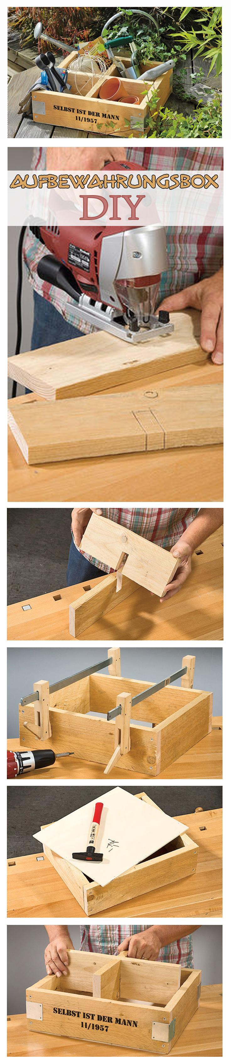 garten aufbewahrungsbox gartendeko selbstgemacht pinterest garten holz und box. Black Bedroom Furniture Sets. Home Design Ideas