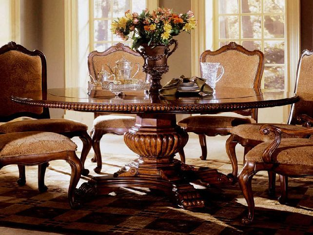 Great Large Round Dining Room Table Intended For Round Pedestal