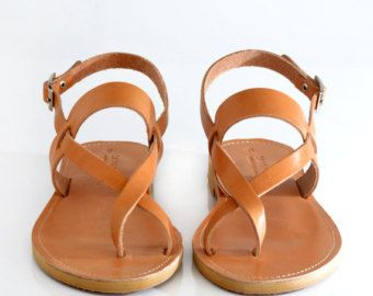 Sandalias Marrón De Cuero Planas Por Ellenrubenbagsshoes Strappy n0OkwXP8