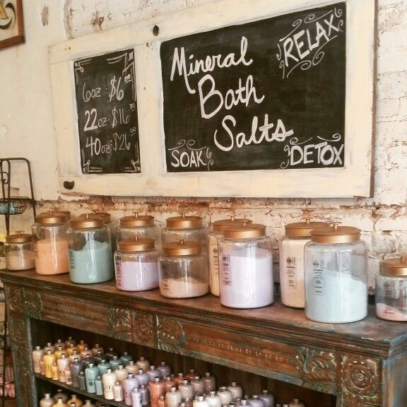 Bath Salt, Soap Display At Our Soap Boutique In Historic