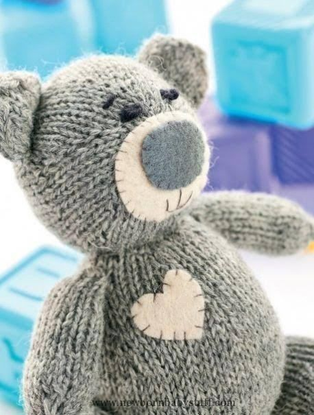 Child Knitting Patterns Oliver The Teddy Free Knitting Sample