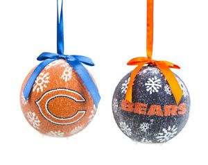 Chicago BEARS Christmas | Set of 6 NFL Chicago Bears Light- Up LED ...