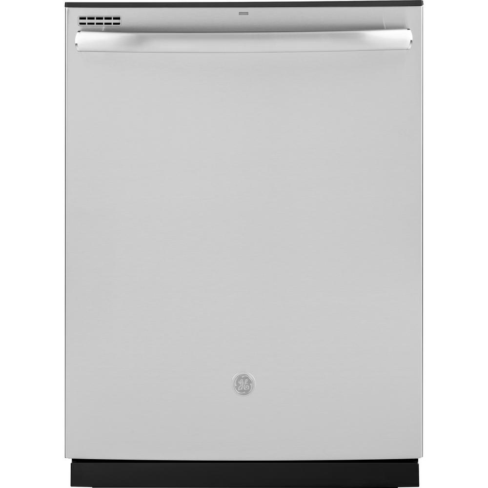 Ge 24 In Stainless Steel Top Control Built In Tall Tub Dishwasher 120 Volt With Steam Cleaning And 50 Dba Gdt605psmss The Home Depot Built In Dishwasher Integrated Dishwasher Ge Dishwasher