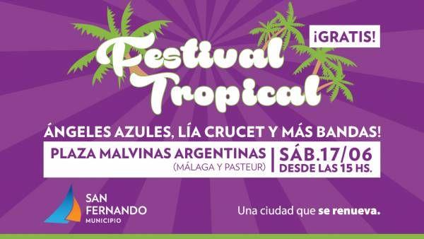 Ángeles Azules y Lía Crucet, en otra edición del Festival Tropical de San Fernando
