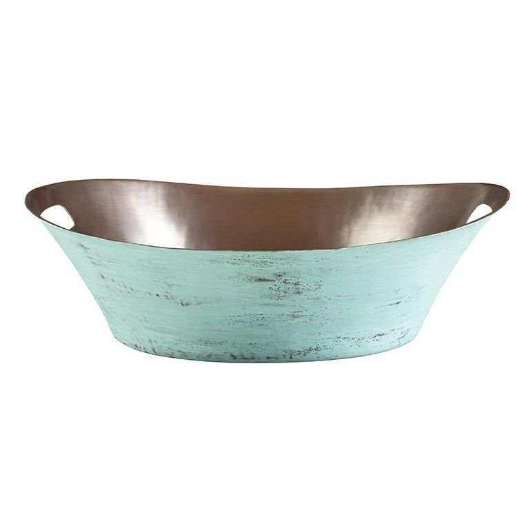 Photo of Thompson Traders BOV-2016VTP Beaker Oval Handcrafted Vessel Bathroom Sink with Handles