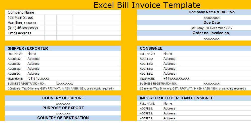 7 best Free Invoice Templates images on Pinterest Invoice - amortization schedule in excel