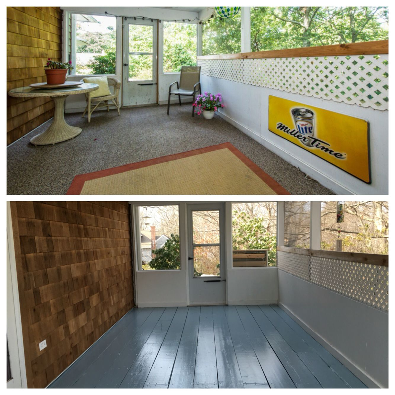 before and after behr porch and patio
