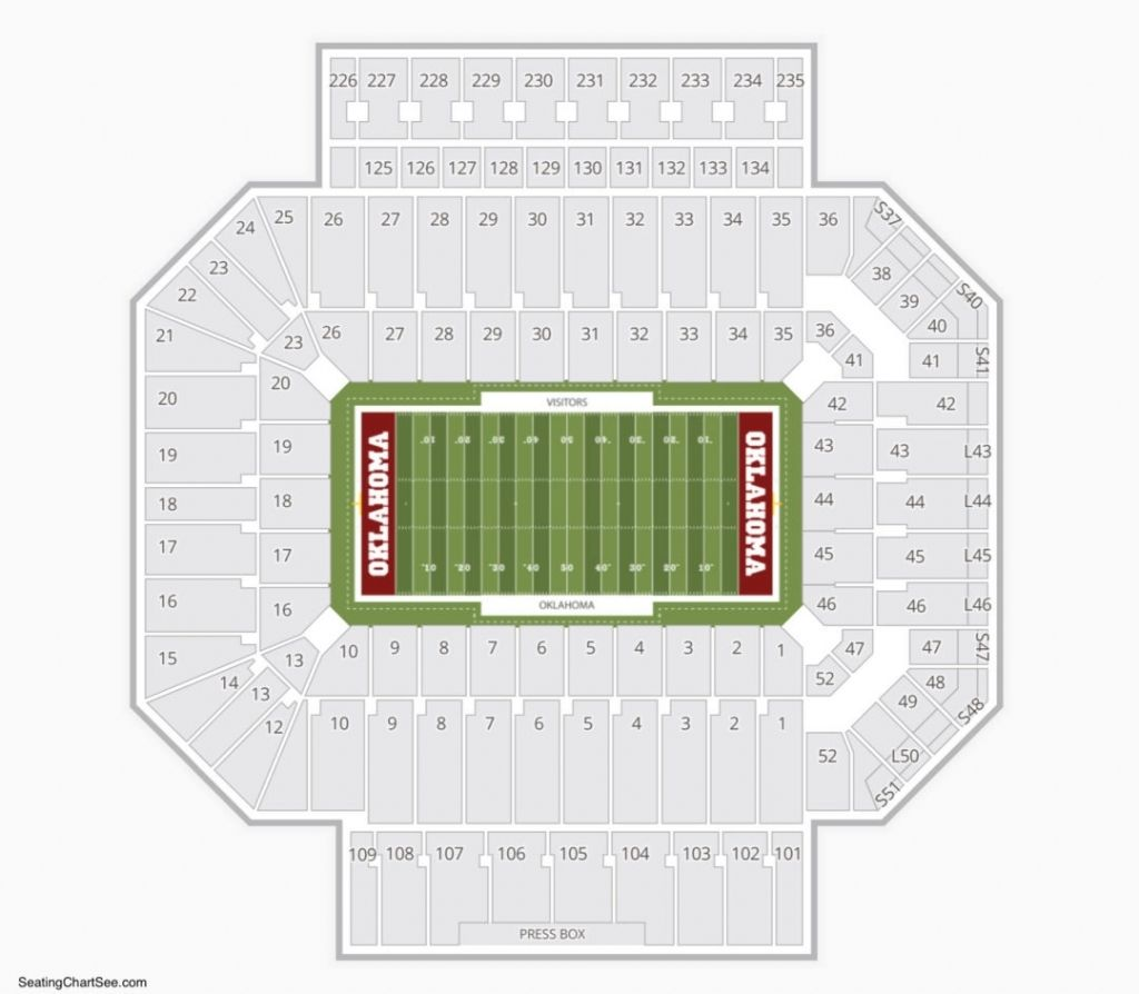 Elegant Ou Football Seating Chart Seating Charts Chart Oklahoma Memorial