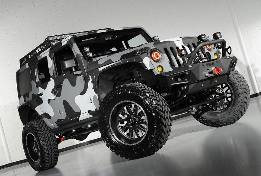 One Of A Kind Kevlar Jeep Wrangler Unlimited If You Want To Look Super In A Zombie Apocalypse Then This Is Jeep Wrangler Unlimited Jeep Camo Truck Accessories