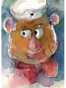 Rifkin - #Aceo -#Potatoe #Head - print from original painting