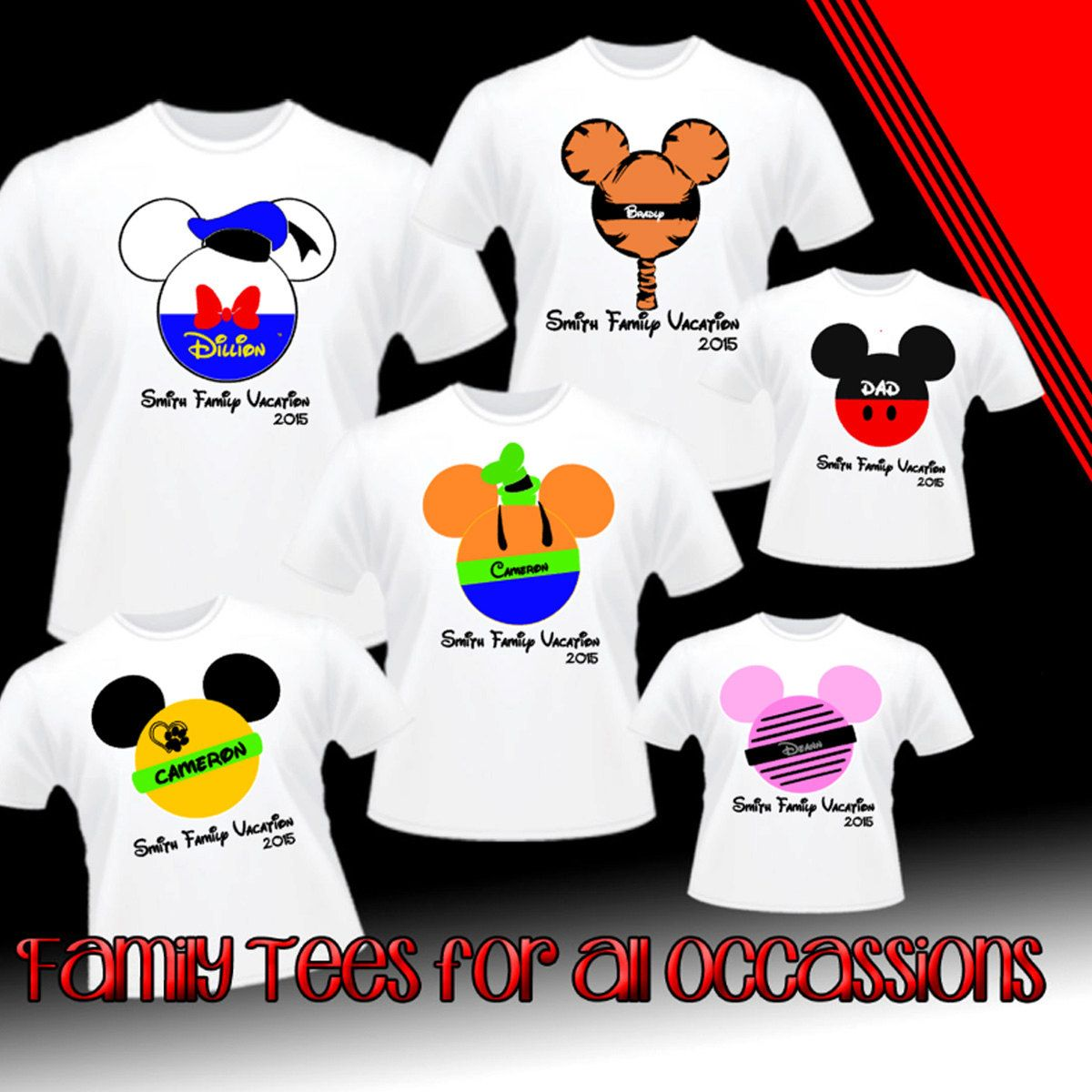 Goofy Iron-On T-Shirt Transfer w//FREE Personalization