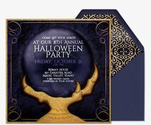 crystal ball invitation party pinterest halloween halloween