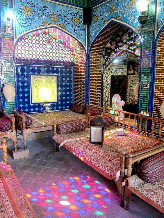 Traditional Tea House Iran With Images Persian Decor Persian