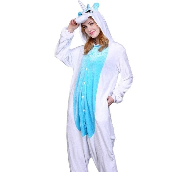 32a2b6294e ... official photos 49472 eee53 PSEEWE Unicorn Stitch Panda Unisex Flannel Pajamas  Adults anime cosplay Animal Onesies ...