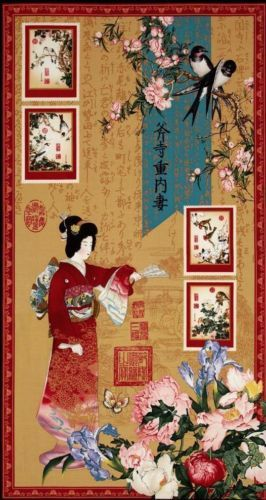 With Asian quilting fabric panels can