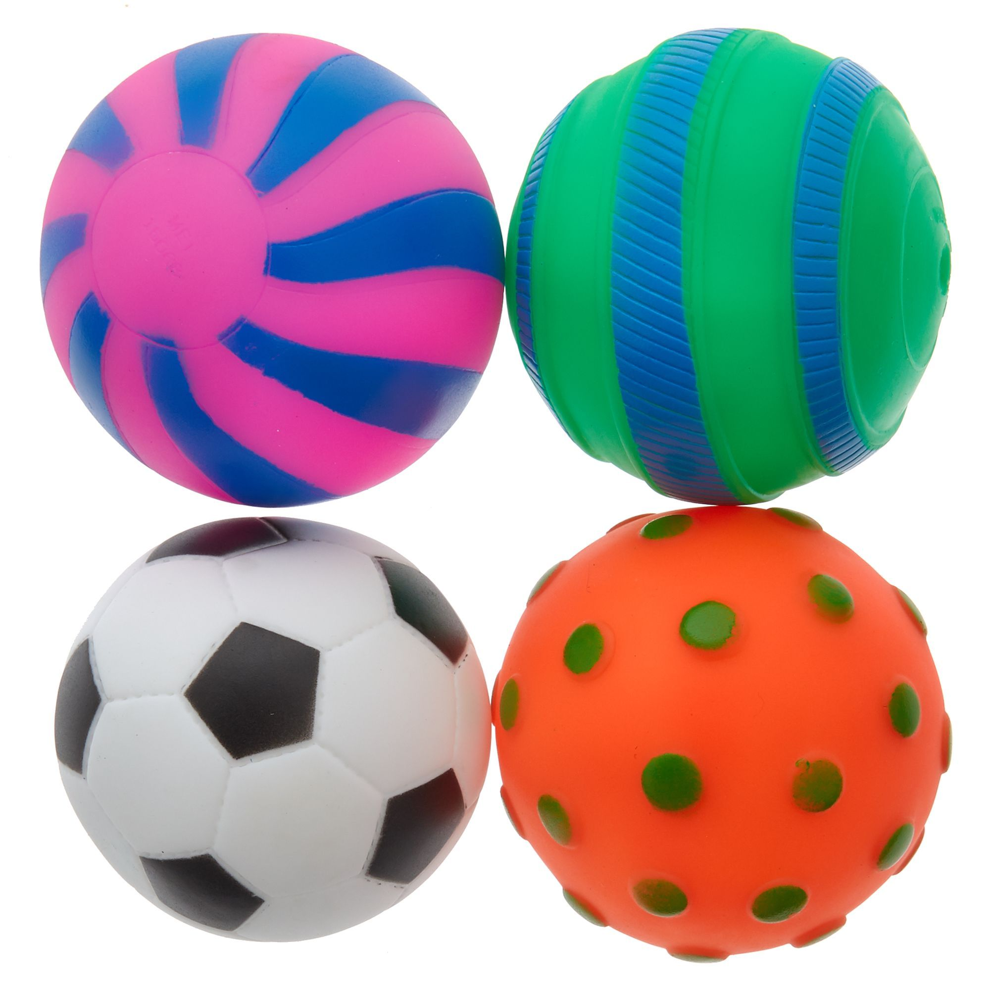 Grreat Choice Ball Dog Toys 4 Pack Great Choice Dog Toys Dog
