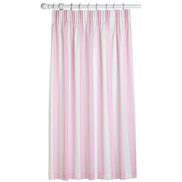Pink White Curtains 47 Liked On Polyvore Featuring Home Decor