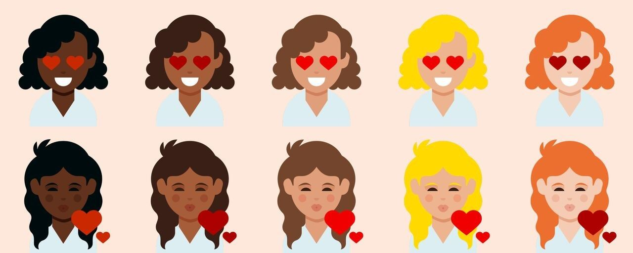 Curly Haired Emojis Have Finally Arrived Curly Hair Styles Curly Emoji