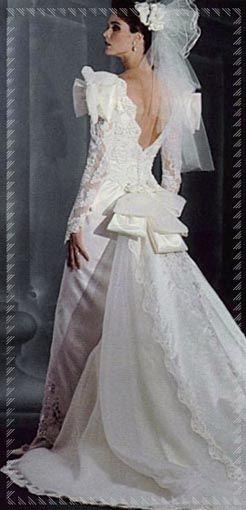 100% autenticato moda firmata disabilità strutturali abito da sposa con lo strascico anni '80 | La Nuova Sartoria ...