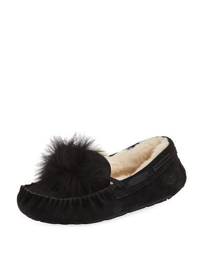 77c6c519c66 UGG Dakota Pom-Pom Moccasin Slippers - 8 - Black | All I want for ...