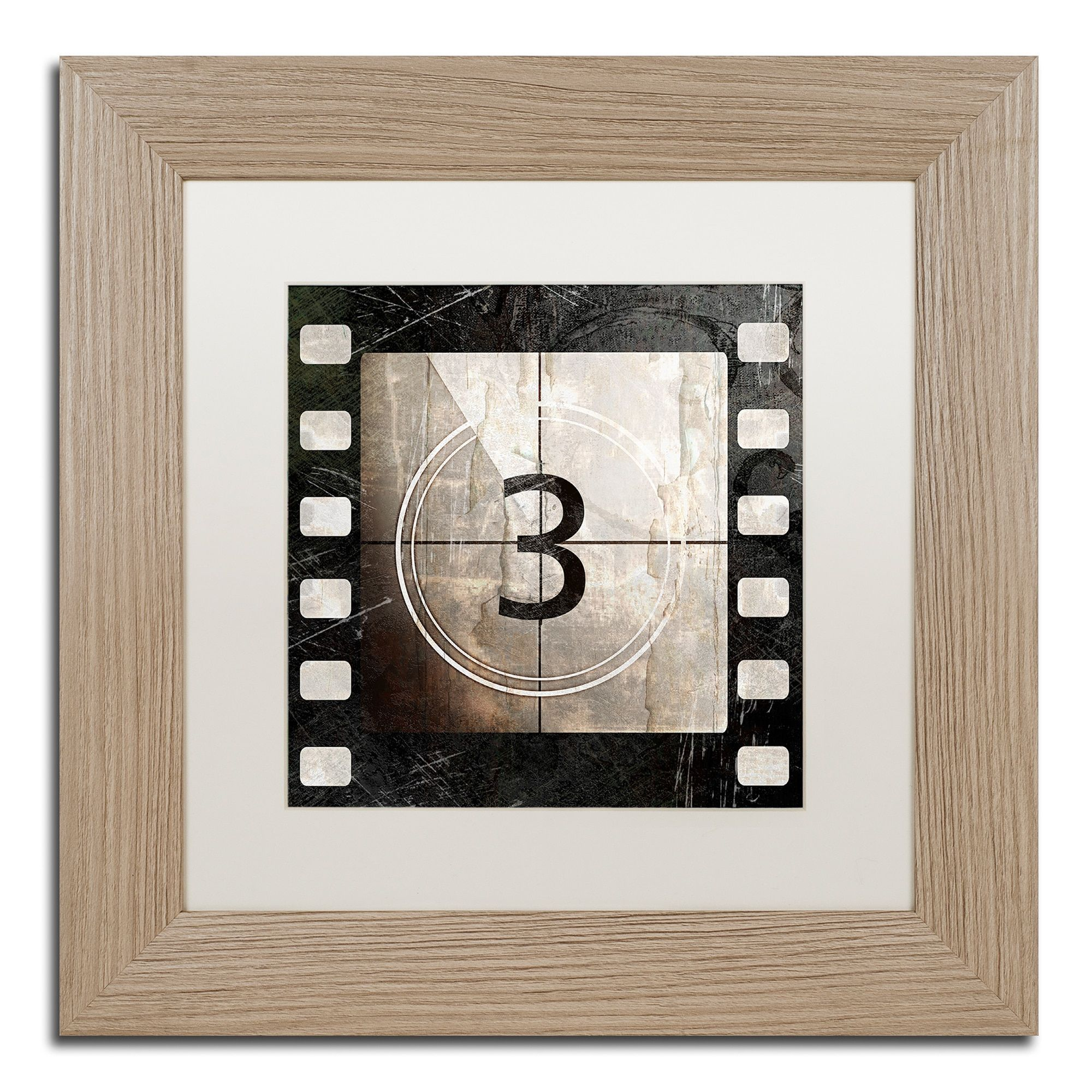 Color Bakery 'Vintage Countdown Iii' Matted Framed Art