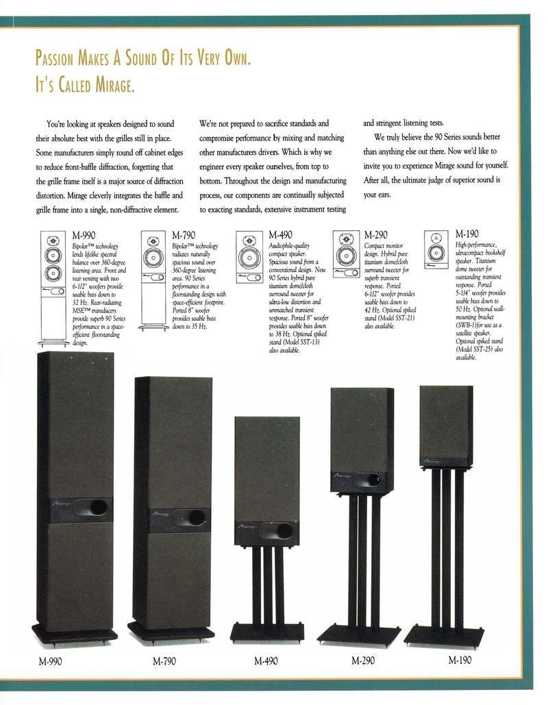 Price Drop Fs Mirage M990 Speakers Classifieds Audio Stereonet Speaker Mirage Speaker Design