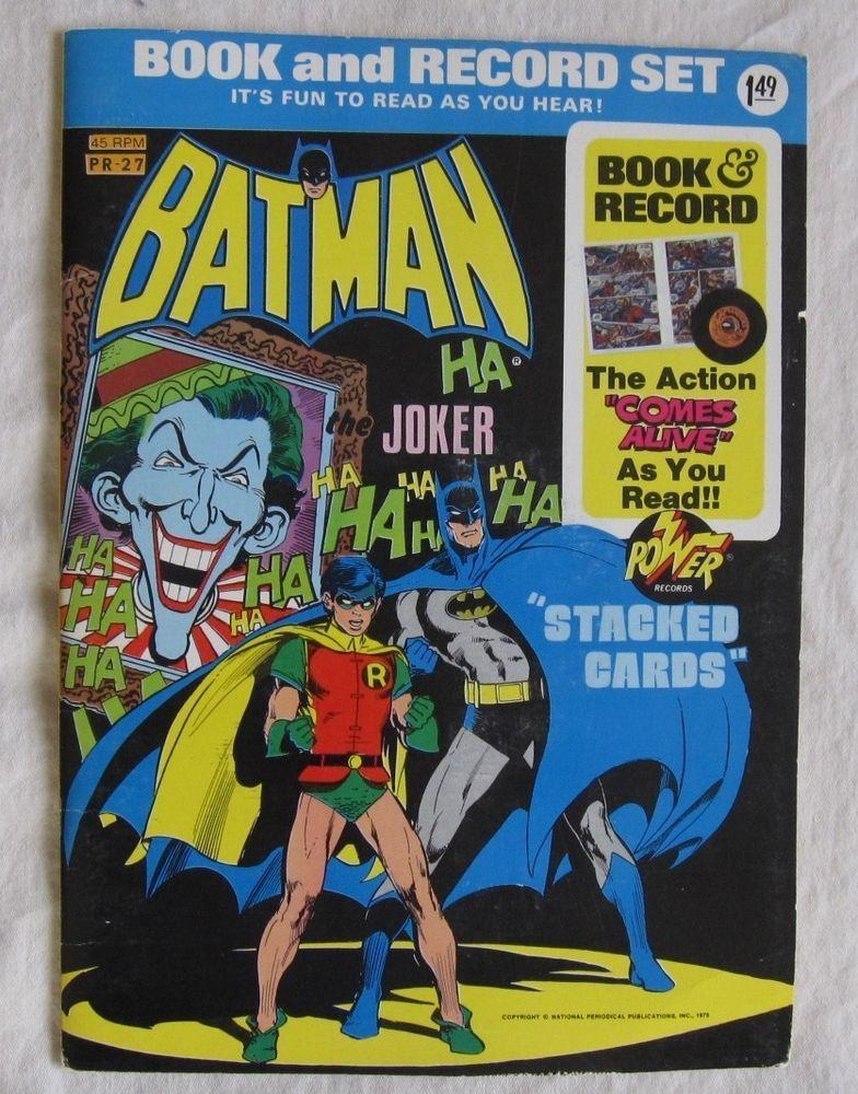 Batman Vs Joker Stacked Cards Comic Book Record Power Records 45