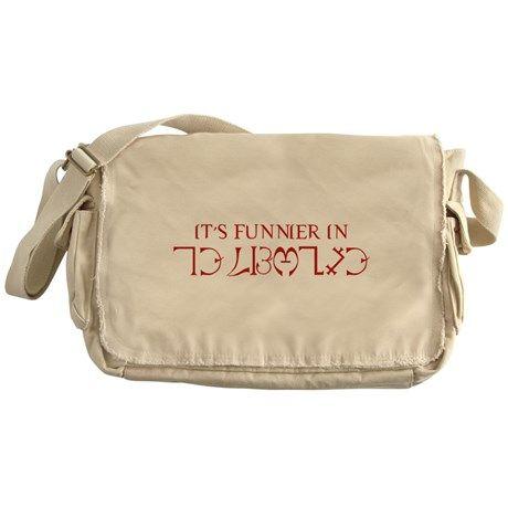 It's Funnier In Enochian Messenger Bag