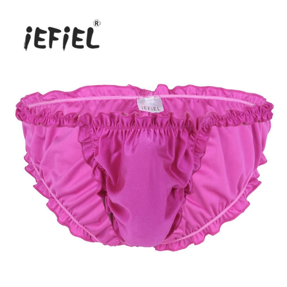 9b6a4e4fc959 2018 Iiniim Lingerie Sexy Gay Panties For Mens Soft Shiny Satin Sissy  Skirted With Bowknot Thongs String Homme Underwear Underpants From  Apparelone, ...