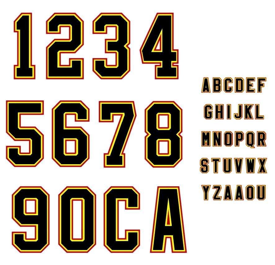 sports number  u0026 letter template