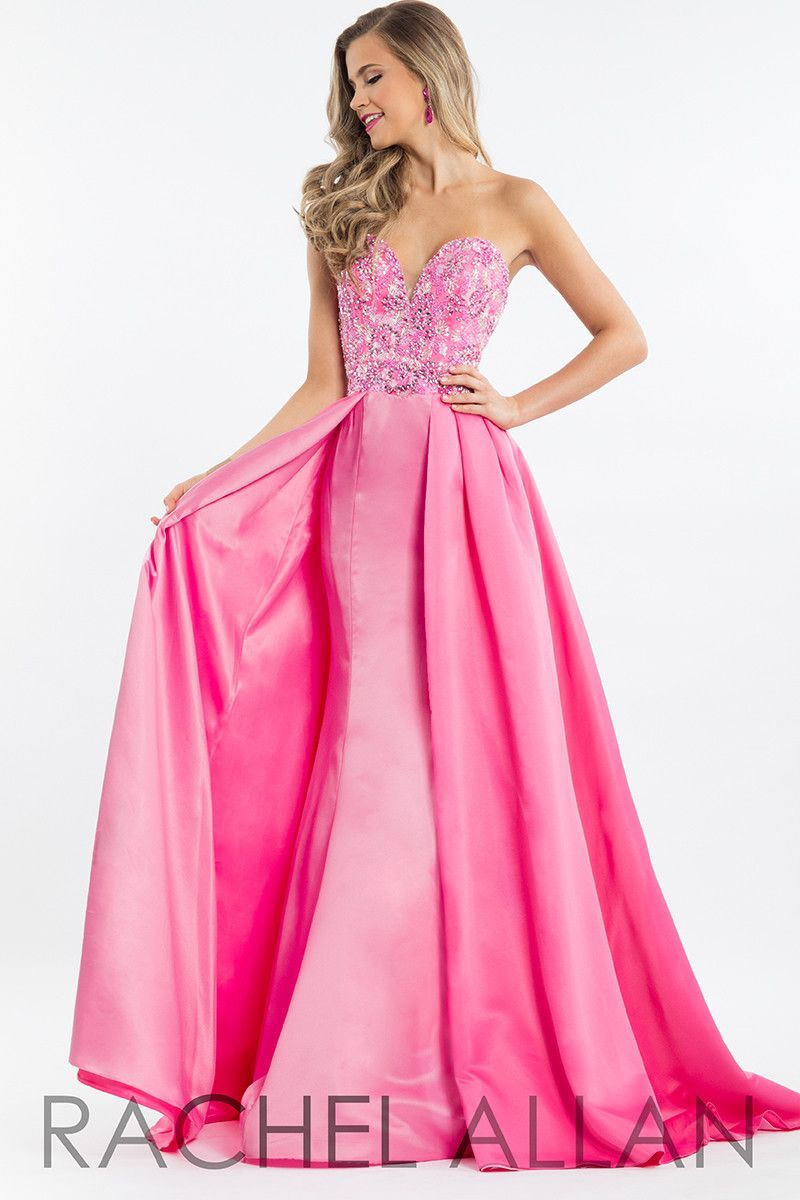 Rachel Allan 7508 Fuchsia/Light Pink Prom Dress | Vestidos de noche ...
