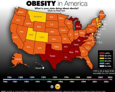 Obesity Distribution Map Of US This Is A Shot Of A Map From - Maps obesity us