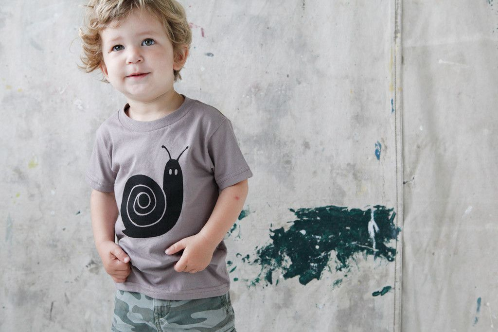 Wild, Natural, Free Kids' Tee, Snail