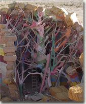 Support trees in the Salvation Mountain Museum