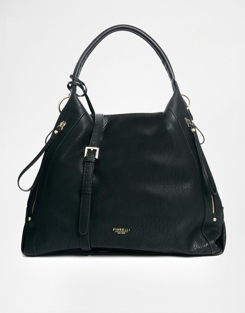 Fiorelli Black Casual Shoulder Faux Leather Cross Body Handbag Tote Work Bag New In Clothes Shoes Accessories Women S Handbags Ebay