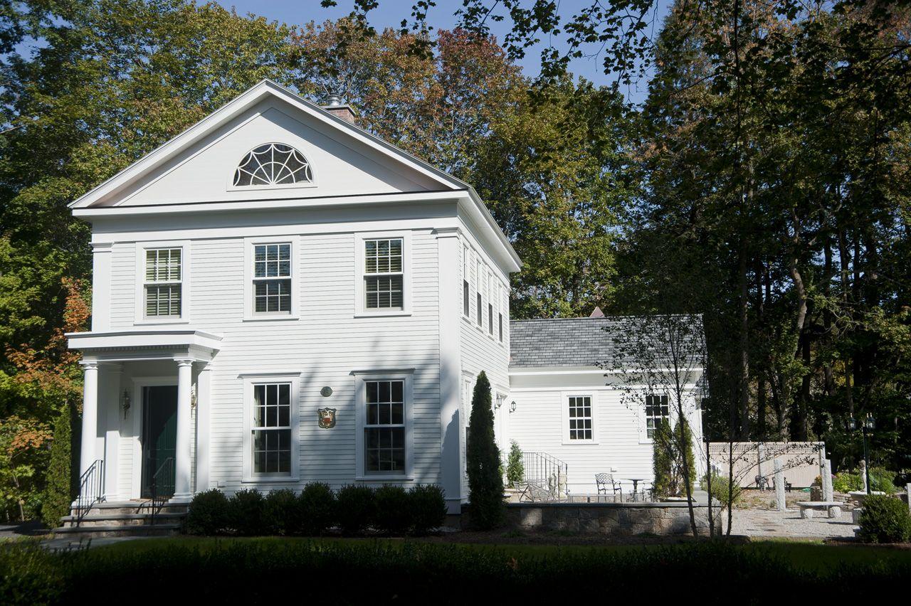 Cliffwood Greek Revival Residence Kristine Sprague Architect Leed Ap Greek Revival Home House Plans Farmhouse Greek Revival