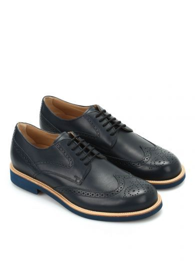 Blue brogue Derby shoes Tod's CdrnnQof0K