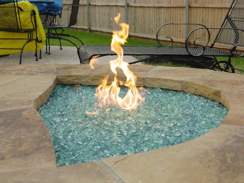glass filled firepit